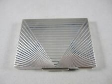 TIFFANY & CO. STERLING SILVER COMPACT, DECO DESIGN, MINT, 134 g. OUTSTANDING!