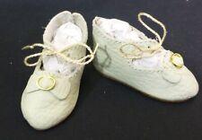 "75mm Tan Scarpe Di Pelle Per Bambola antico DOLL CLOTHES /""jumeau/"" Scarpe"