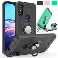 For Motorola Moto E 2020 Case Shockproof TPU Rugged Ring Kickstand Phone Case