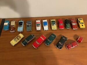 (17) Lot of Diecast Model Cars 1:43 Franklin Mint, ERTL, Dinky, Kinsmart, Solido