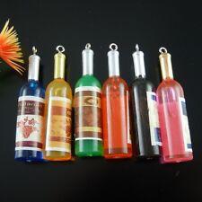 Clearance Sale Multi Color Acrylic Bottles Shape Pendants Charms Crafts 4pcs