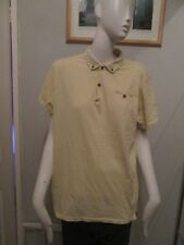 BEN SHERMAN PLECTRUM  - YELLOW, BUTTON DOWN POLO SHIRT ,SIZE  MED, 100%Cotton