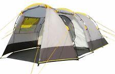 Ribelli Campingzelt Tunnelzelt 4 Personen Zelt mit 3000 mm Wassersäule grau
