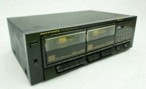 Vintage Marantz SD 156 Stereo Dual Cassette Deck Player Recorder Audio As Is