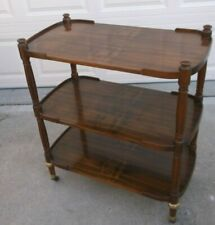 Baker Furniture 3 Tier Wood Serving Cart on Caister