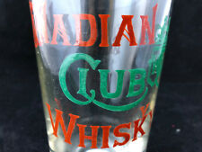 Ancien Verre Publicitaire Emaiilé Canadian Club Whisky Antique