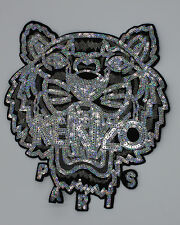 Sequin Patch: Silver KENZO Tiger