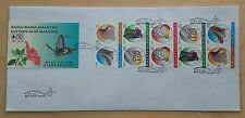 1996 Malaysia Butterflies Booklet 10v Stamps on Private FDC (Melaka Cachet)