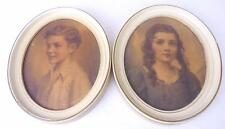 Vintage Edward Gross Oval Frame Prints by C. Bosseron Chambers-Cynthia/Richard