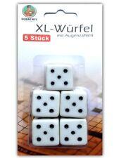 5x XL Augenwürfel Set | Große Spielwürfel | Senioren Würfel | Knobel