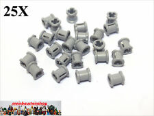25X Lego® 6590 / 3713 Technic Stopper Buchse Bush neues Hellgrau Light Bl. Gray