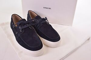 Vince NWB Boat Shoes/Loafers Size 12 D in Navy Suede Ferry $225