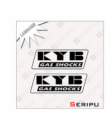 X2 PEGATINAS KYB GAS SHOCK STICKERS MOTO GP VINILO LAMINADA