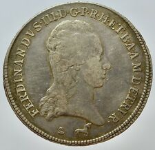 FIRENZE - FERDINANDO III 1791-1824 -AG/ FRANCESCONE o 10 PAOLI 1793  RARA !
