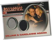 Battlestar Galactica Season 4 - DC6 William & Carolanne Adama Dual Costume Card