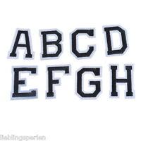 1Set Schwarz+Weiß Applikation Aufnäher Patchwork Buchstaben A-Z 5.1x3.8cm LP