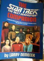 AUTOGRAPHED BOOK STAR TREK NEXT GENERATION COMPANION BOOK, 1992 BY LARRY NEMECEK