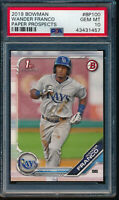 PSA 10 WANDER FRANCO 2019 1st Bowman Prospects Rays Rookie Card RC GEM MINT QTY