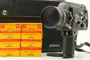 All Works[Exc+5 w/Case] Nikon R10 SUPER 8mm Movie Camera 7-70mm f/1.4 From JAPAN