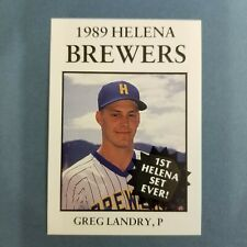 1989 Sports Pro HELENA Brewers #10 GREG LANDRY Abbeville LOUISIANA Baseball Card
