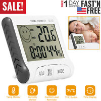 Digital LCD Indoor/Outdoor Thermometer Hygrometer Temperature Humidity Monitor