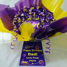 CADBURY TWIRL  SWEET CHOCOLATE BOUQUET HAMPER (PERSONALISED BIRTHDAY, THANK YOU)