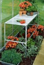 Greenhouse Aluminium Staging | Halls Slatted Staging in Silver