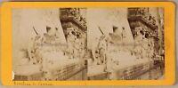 Il Tombeau Da Canova Venezia Italia Foto Stereo PL55L2n Vintage Albumina c1870