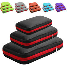 1 x COMPRESSION PACKING CUBES, TRAVEL LUGGAGE ORGANIZERS WITH DOUBLE COMPARTMENT