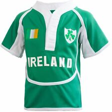 Children's Cool Dry Style Rugby Shirt In Ireland Colours Size 5-6 Years