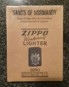 ZIPPO, D DAY, SANDS OF NORMANDY, 60TH ANNIVERSARY COMMEMORATIVE, LTD, SEALED