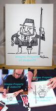 White Stripes Rob Jones Signed Original 9x12 Canvas Fisherman Sketch EXACT PROOF