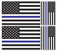 4 X US POLICE FLAG VINYL CAR VAN IPAD LAPTOP STICKER BRITISH