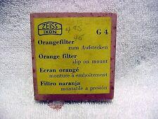 42mm G4 Orange Zeiss Slip-on Filter | Contax IIa/IIIa or Summaron | New NOS |$23