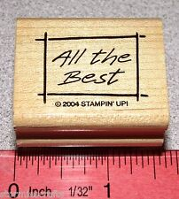 All the Best Rubber Stamp Single Friendship Sympathy by Stampin Up All the Best