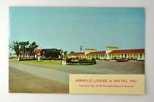 ARNOLD LODGE & MOTEL INC. VINTAGE POSTCARD St. Georges Beauce QUEBEC