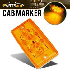 1x Rectangle Amber 6 LED Cab Roof Clearance Marker Lamp Light for Freightliner