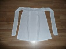 New White Victorian / Tudor Style Fancy Dress Apron Age 5-10 Years
