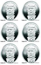6 2018 1 oz BU Trump Prophecy #1 #2 #3 #4 #5 #6 VERY RARE matching COAs #210