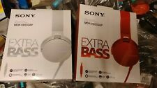 Sony MDR-XB550AP WHITE or RED NEW sealed EXTRA BASS headphones rrp £50