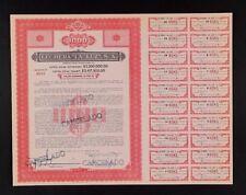 MEXICO C/13 LECHERA ¨LA LUZ¨ Guadalajara una Titulo de $1000 de 1954 (MILK)