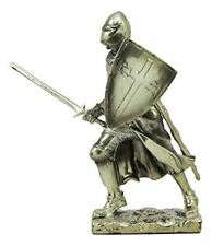 """Ebros Holy Roman Empire Crusader Knight with Sword and Shield Statue 7"""" Tall"""
