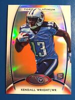 KENDALL WRIGHT 2012 Topps Platinum CHROME ROOKIE ORANGE REFRACTOR # 118