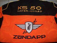 NEU ZÜNDAPP KS 50 WC Oldt Fan Jacke schwarz/orange veste jacket jas giacca jakka
