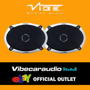 "Vibe Slick 69.2 V4  6x9"" 840 Watts 2 Way Car Shelf Coaxial Speakers FREE P&P"