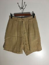 POLO RALPH LAUREN Linen Shorts (Khaki) (30) (Pre-Owned) (Free Shipping)!