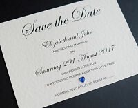 10 Handmade Personalised Save the Date Cards Invitations & Envelopes *FREE P&P*