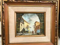 "Anthony Veccio Original Oil Painting Landscape, Signed, Framed, 9 1/2"" x 7 1/2"""