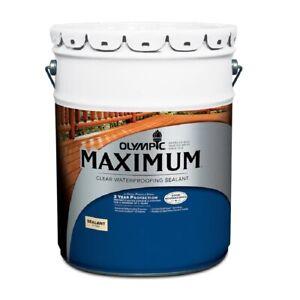 Olympic Maximum 5 gal. Clear Exterior Waterproofing Sealant