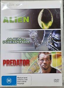 ALIEN / ALIEN vs PREDATOR / PREDATOR DVD SET - Free Post